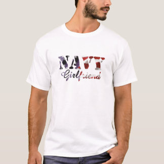 Navy Girlfriend American Flag T-Shirt