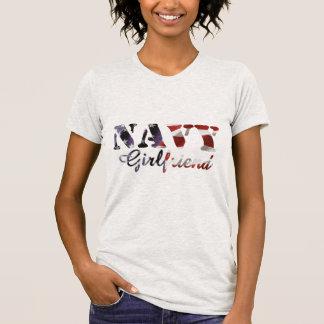 Navy Girlfriend American Flag Tees