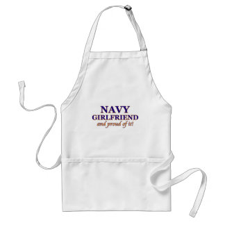 Navy Girlfriend and Proud of It Adult Apron