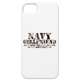 Navy Girlfriend Answering Call iPhone 5 Case