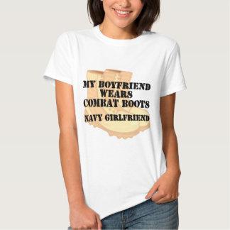 Navy Girlfriend Desert Combat Boots Shirt