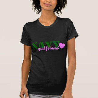 Navy Girlfriend Green PInk T-Shirt