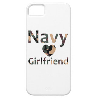 Navy Girlfriend Heart Camo iPhone 5 Covers