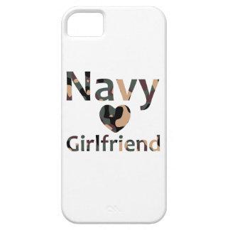 Navy Girlfriend Heart Camo iPhone 5 Covers