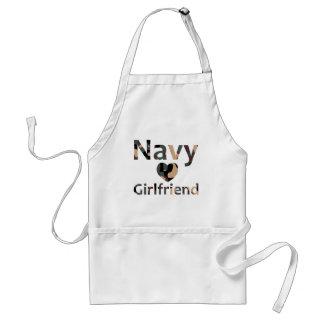 Navy Girlfriend Heart Camo Standard Apron