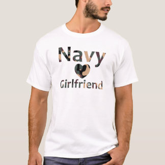 Navy Girlfriend Heart Camo T-Shirt