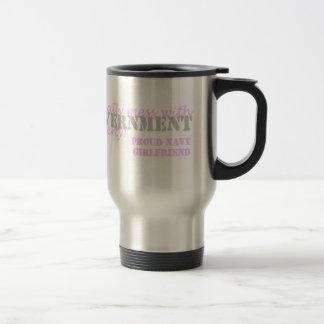 Navy Girlfriend Legally Mess Stainless Steel Travel Mug