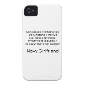 Navy Girlfriend No Problem iPhone 4 Case-Mate Cases
