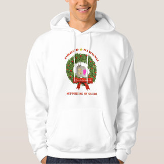 Navy Girlfriend Support Holiday Hoodie