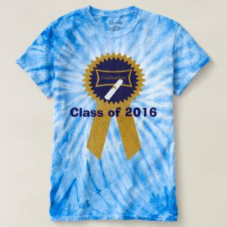 Navy & Gold Graduation Ribbon Tee Shirts