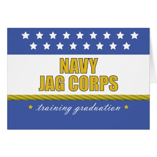 Navy JAG Corps Training Graduation, Judge Advocate Card
