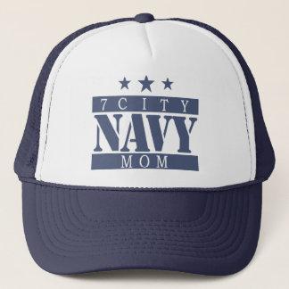 NAVY Mom -Blue Logo Trucker Hat