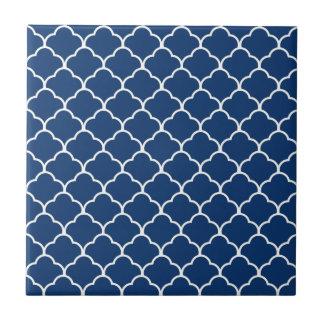 Navy Moroccan Design at  Emporiomoffa Small Square Tile