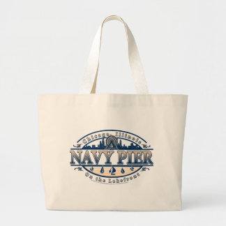 Navy Pier Chicago Large Tote Bag