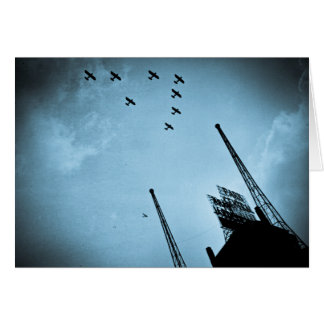 Navy Planes Fly Over Park Central Hotel NYC Cyan Card