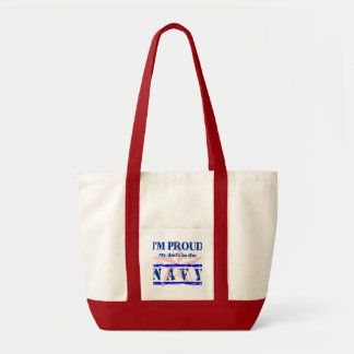 navy proud - dad canvas bags