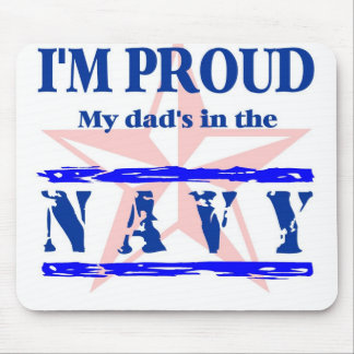 navy proud - dad mouse pad
