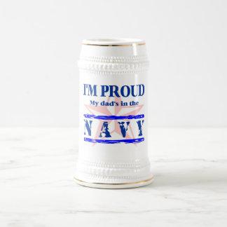 navy proud - dad beer steins