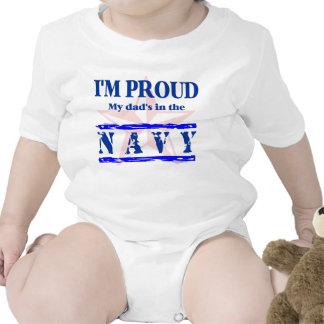 navy proud - dad rompers