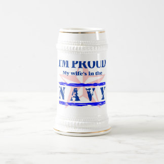 navy proud - wife beer steins