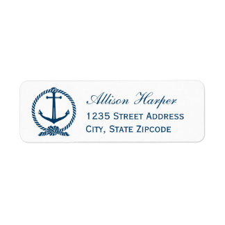 Navy Return Address Labels | Nautical Theme