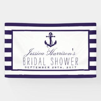 Navy Stripe Nautical Anchor Bridal Shower