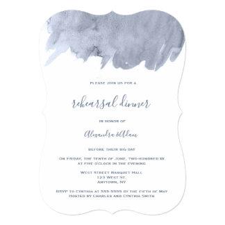 Navy watercolor rehearsal dinner invitations