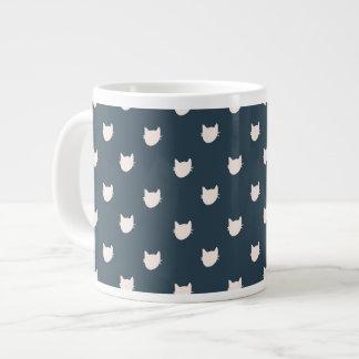 Navy Whimsical Cats Mug Jumbo Mug