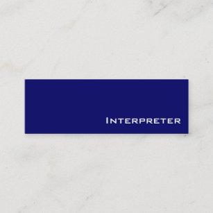 Professional interpreter business cards zazzle nz navy white interpreter business cards colourmoves