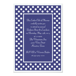 Navy & White Polka Dot Corporate Party Invitation
