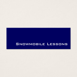 Navy white snowmobile lessons business cards