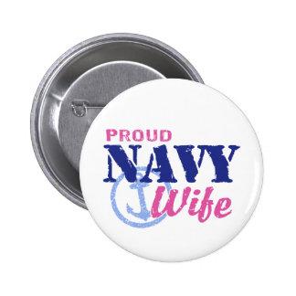Navy Wife 6 Cm Round Badge