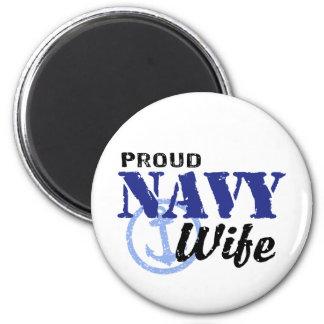Navy Wife 6 Cm Round Magnet
