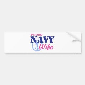 Navy Wife Bumper Sticker