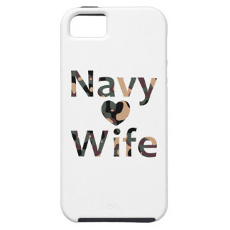 Navy Wife Heart Camo iPhone 5 Cover