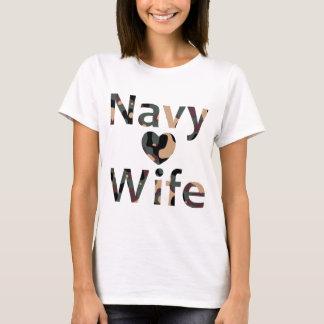 Navy Wife Heart Camo T-Shirt