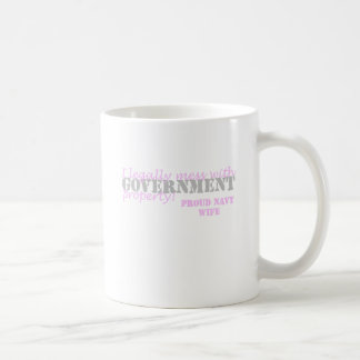 Navy Wife Legally Mess Basic White Mug