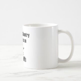 Navy Wife Serve Country Basic White Mug