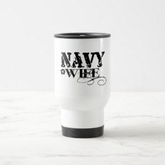 Navy WIFE Stainless Steel Travel Mug