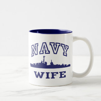 Navy Wife Two-Tone Mug