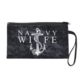Navy Wife Wristlet Purses