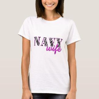 Navy Wife Zebra T-Shirt