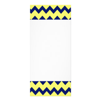 Navy Yellow Chevrons Rack Card