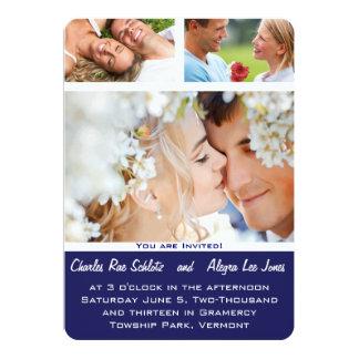 Navy Your Photo Wedding Invitations