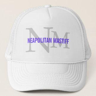 Neapolitan Mastiff Breed Monogram Design Trucker Hat