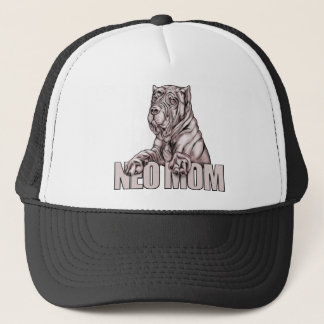 Neapolitan Mastiff Mom Black Trucker Hat
