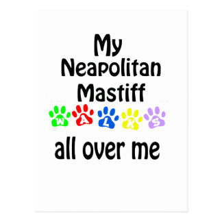 Neapolitan Mastiff Walks Design Postcard
