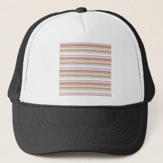 Neapolitan Striped Trucker Hat
