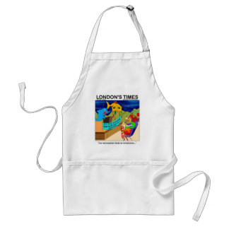 Near Death Experience Funny Fishing Gifts & Tees Standard Apron