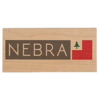 NEBRA USB stick Wood USB 2.0 Flash Drive